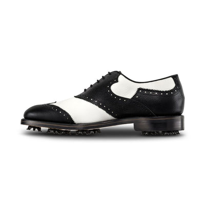 2019 FJ 1857 Mens Shield Tip Golf Shoes - BLACK/ WHITE - Factory Blemish