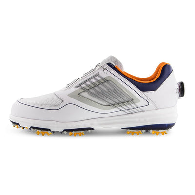 FJ FURY BOA Mens Golf Shoes - WHITE / GREY / NAVY