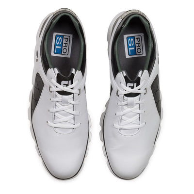 Footjoy Pro/SL Men's Golf Blemish Shoes - White/Black/Silver