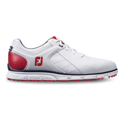 Footjoy Pro/SL Men's Golf Blemish Shoes - White/Red/Navy