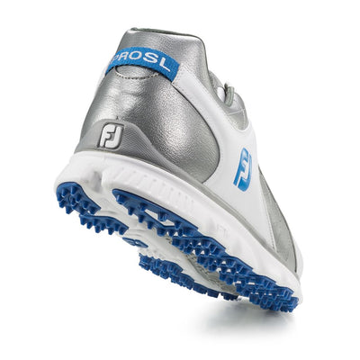 Footjoy Pro/SL Men's Golf Blemish Shoes - White/Grey/Light Blue
