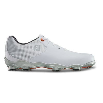 Footjoy Mens D.N.A. HELIX Golf Shoes -WHITE / SILVER - Factory Blemish