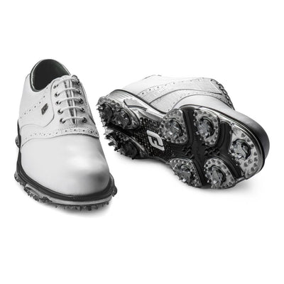 2019 DryJoys Tour Mens Golf Shoes - WHITE / WHITE CROC PRINT