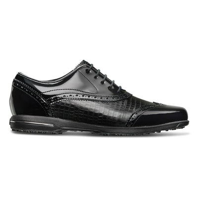 Tailored Collection Women Golf Shoes BLACK PATENT / BLACK CROC PRINT
