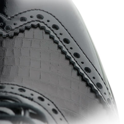 Tailored Collection Women-Previous Season Style - BLACK PATENT / BLACK CROC PRINT