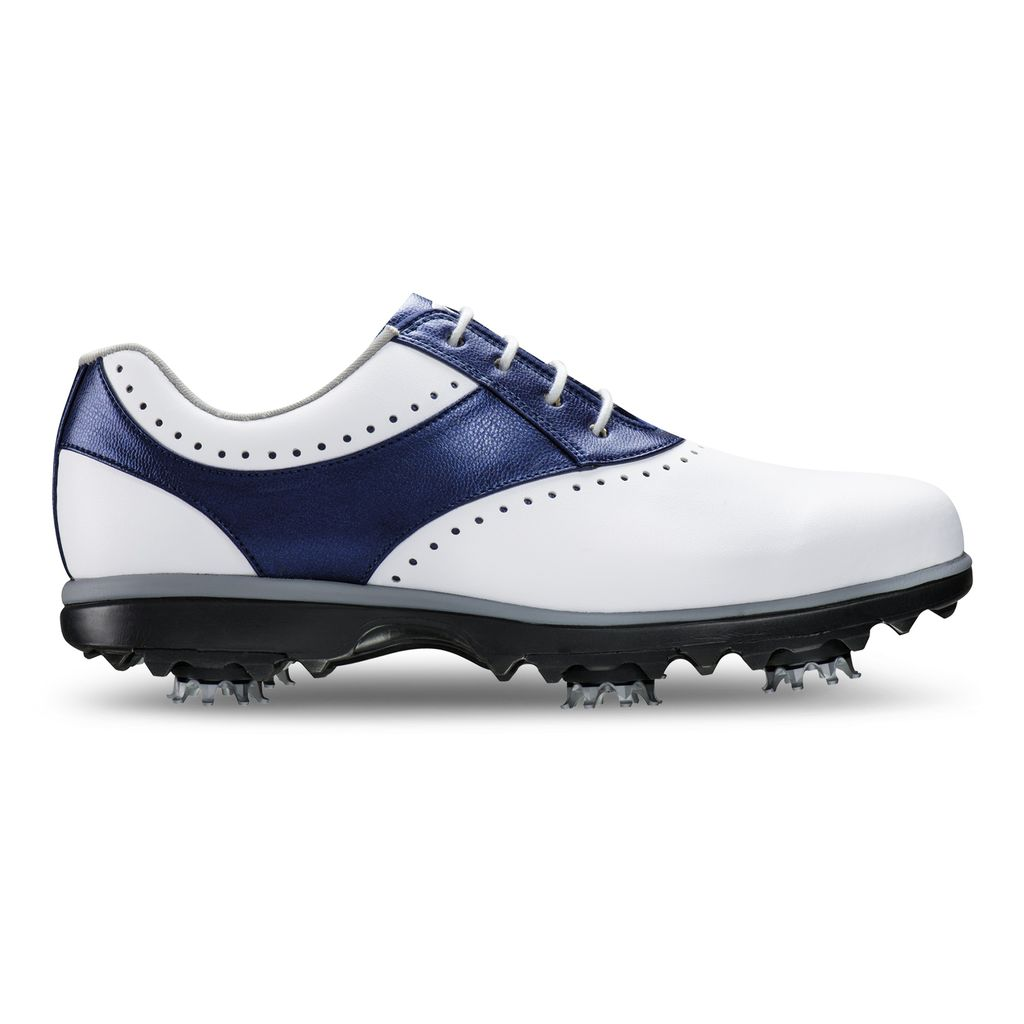 FootJoy Women s eMerge Golf Shoes - WHITE BLUE - Factory Blemish - In - Golf  Anything US a3d68f1ad78