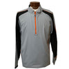 FJ - Men's Long Sleeve Sport Windshirt - Steel Grey Black Orange