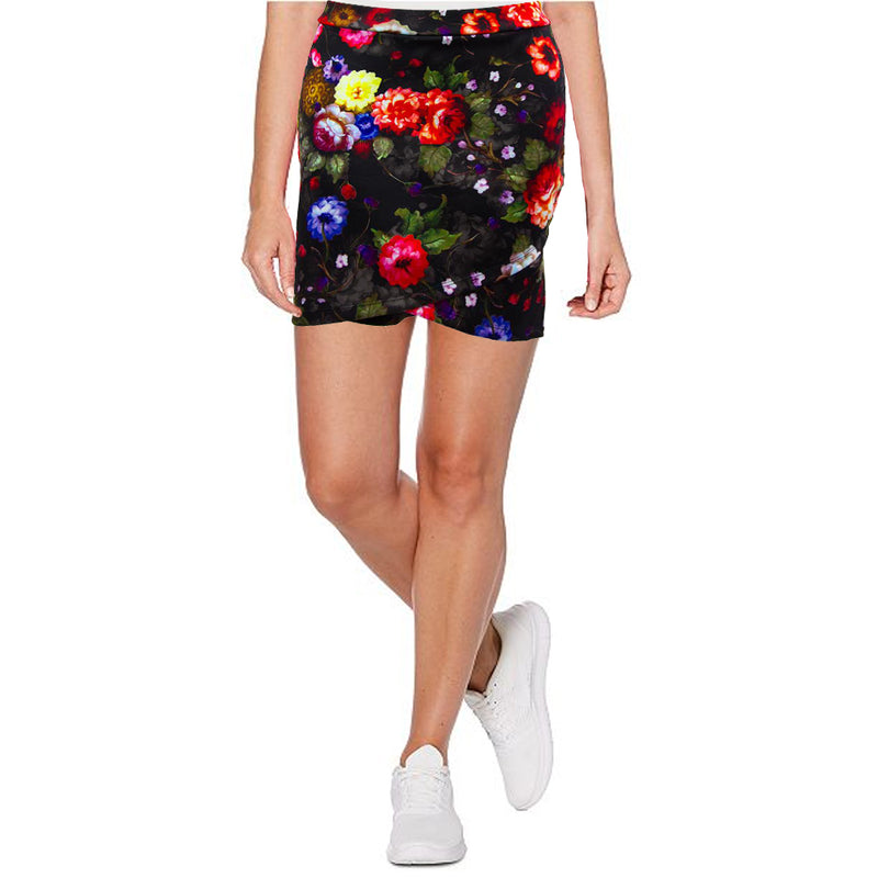Catwalk Crossover Skirt - Black Rose