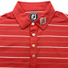 FootJoy Tour Four Button Stripe Athletic Fit Shirt - Previous Season - Red White