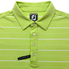FootJoy Four Button Stripe Athletic Fit Shirt - Previous Season - Lime White