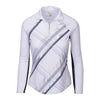 Greg Norman Women's Solar XP 1/4-Zip Foil Long Sleeve Polo - WHTIE