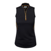 Greg Norman Women's Sheena S/L Tulip Neck - BLACK