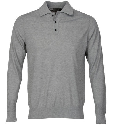 G/Fore Men's 16 Gauge Polo - Charcoal