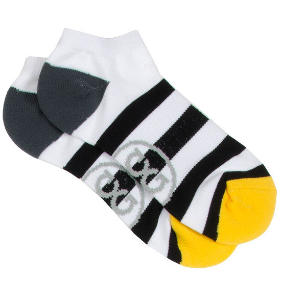 G/Fore Women's Low Cut Socks - Black & White