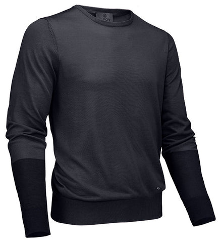 G/Fore Men's Blocked Crew Sweater - Charcoal