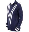 G/Fore Women's Double V Zip Sweaters - Patriot