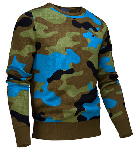 G/Fore Men's Camo Crew Sweater - Olive
