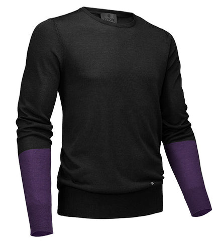 G/Fore Men's Blocked Crew Sweater - Onyx
