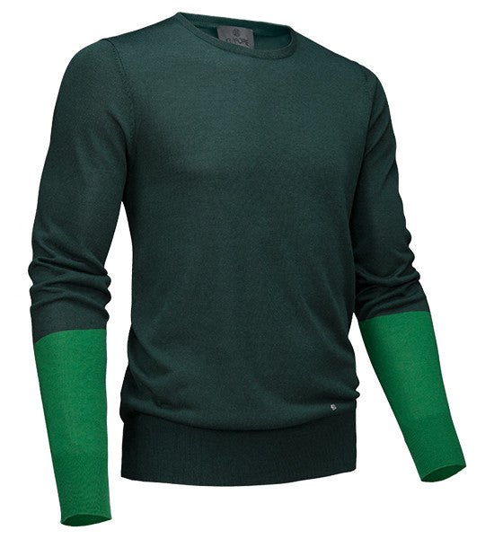 G Fore Men S Blocked Crew Sweater Pine Golf Anything Us
