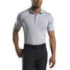 G/FORE MENS FEEDER STRIPE POLO - MONUMENT  - SZ M