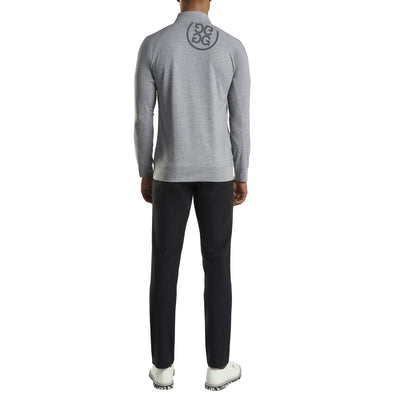 G/FORE MENS LUXE STAPLE MID LAYER - HEATHER GREY - SZ M