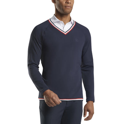 G/FORE MENS TECHNICAL V SWEATER - TWILIGHT - SZ M