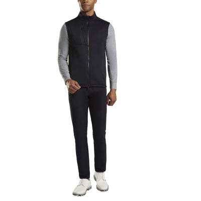 G/FORE MENS G4 FULL ZIP TECH VEST - ONYX - SZ M