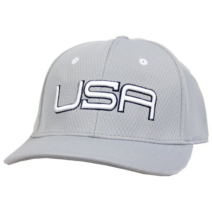 USA LTD EDITION PRO FITTED TOUR HATS 2.0 - GREY/WHITE/BLACK