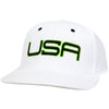 USA LTD EDITION PRO FITTED HATS 2.0 - WHITE/BLACK/LIME