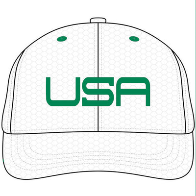 USA FIRST MAJOR LTD EDITION PRO TOUR FITTED HATS  - WHITE/GREEN