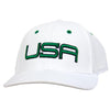 USA FIRST LTD EDITION PRO TOUR FITTED HATS 2.0  - WHITE/GREEN/BLACK