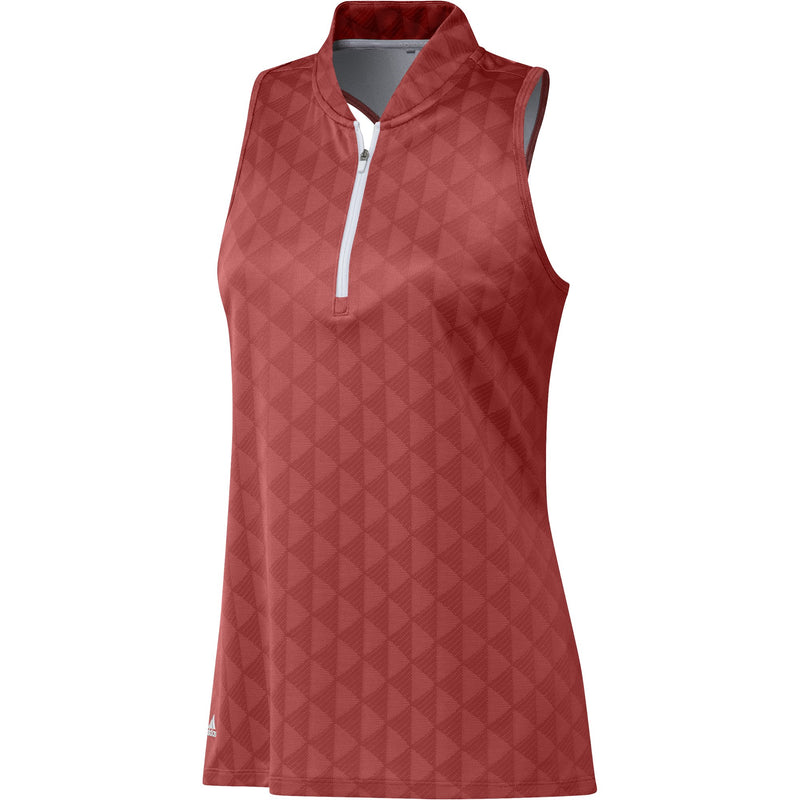 Adidas Womens Primegreen HEAT.RDY Racerback Sleeveless Polo Shirt - CREW RED (PRE-ORDER)