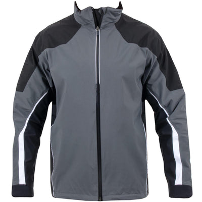 Galvin Green Mens ARROW Gore-Tex Waterproof Golf Jacket - IRON / BLACK / WHITE