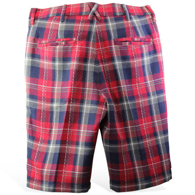 Iliac Luxury Tour Short - British Red & Navy Plaid