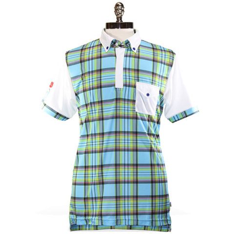 Iliac The National III - Blue May Plaid / Pure White