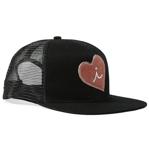 Iliac Love Heart Cap - Player Black/Silver Plated Bar