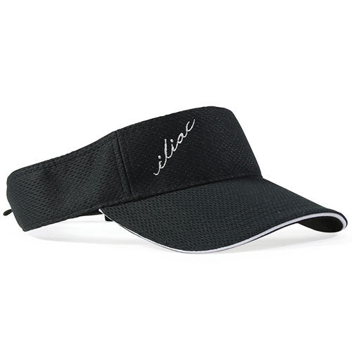Iliac Visor Argyle - Player Black/Silver Plated Bar
