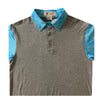 Iliac Men's Golf Polo - Gray - Aqua Blue