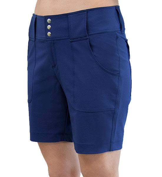 JoFit Belted Golf Shorts - Blue Depth