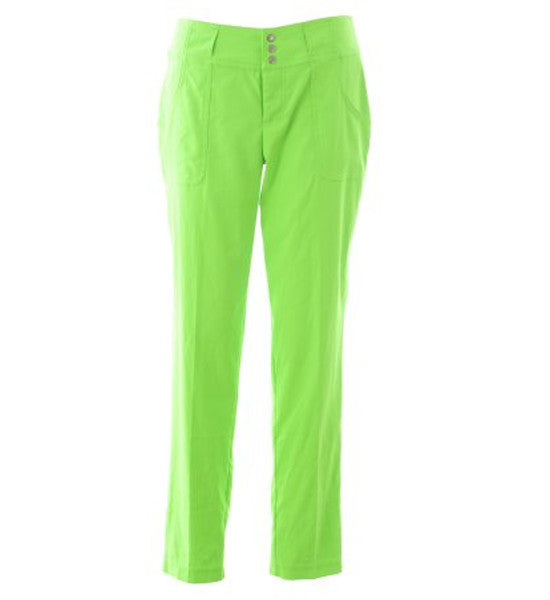 JoFit Belted Cropped Pants - Grass