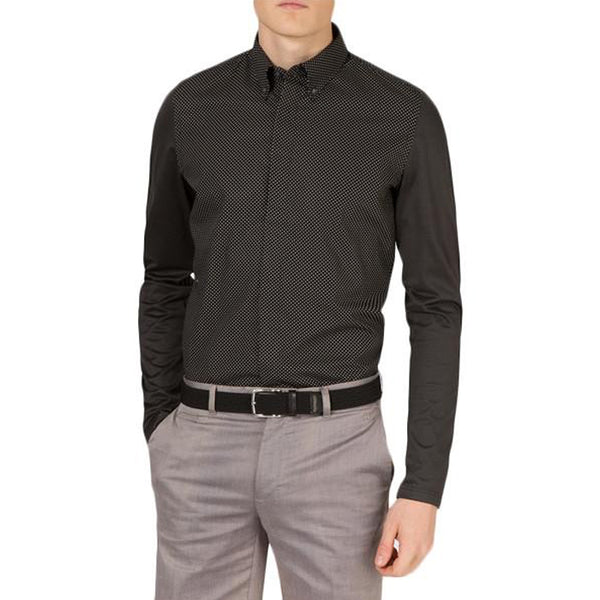 J Lindeberg Men's Bespoken Shirt - Pin Dot