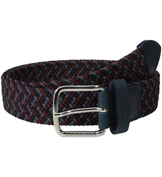 J.Lindeberg Chap 35 Elastic Braid Belts - Navy/Purple