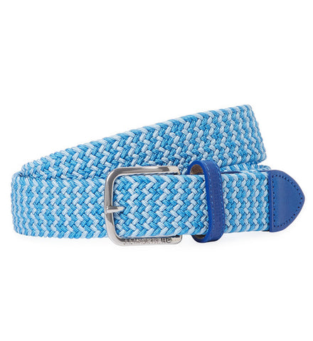 J.Lindeberg Chap 35 H-Bone Elastic Belts - Blue Dusty