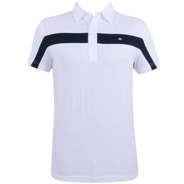 J.Lindeberg Chriss Slim Lux Bridge Jersey Men's - White