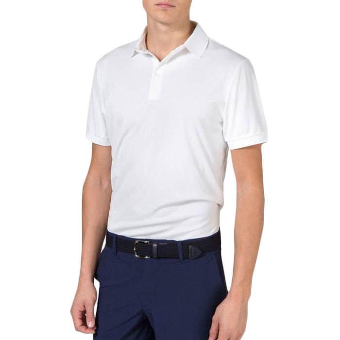 J.Lindeberg Men's Hunter Regular Fieldsensor Polos - White