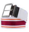 J.Lindeberg Thatcher Bold Webbing Belts - Dark Red