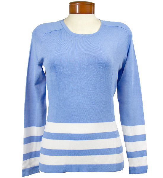 J.Lindeberg Women's Ester Viscose  Sweater - Light Blue