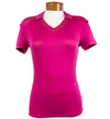 J.Lindeberg Women's Harper Slim Soft Tencel Polo - Dk Pink/Purple