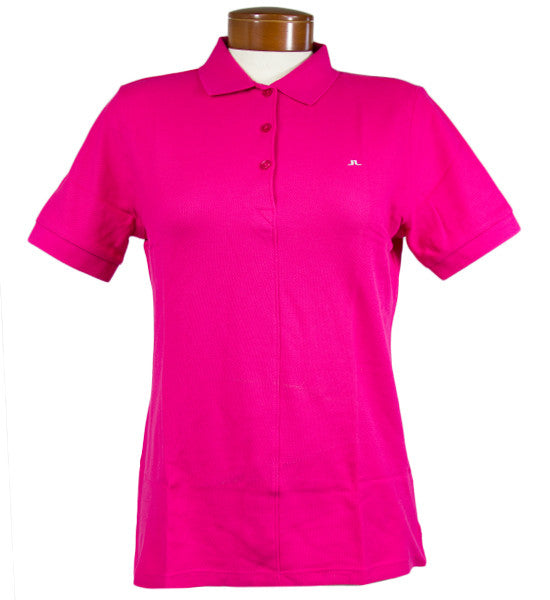 J.Lindeberg Women's  Patsy JL Pique Polo - Intensive Pink