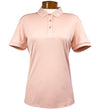 J.Lindeberg Women's Tour Tech Slim Polo - Light Pink Dust